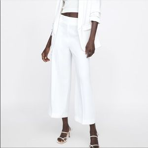 Zara High Wasted Culotte Pants